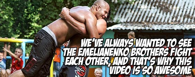 We've always wanted to see the Emelianenko brothers fight each other, and that's why this video is so awesome