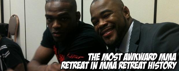 The most awkward MMA retreat in MMA retreat history