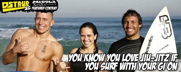 You know you love Jiu-Jitz if you surf with your gi on