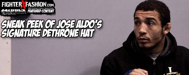 Sneak Peek of Jose Aldo's Signature Dethrone Hat