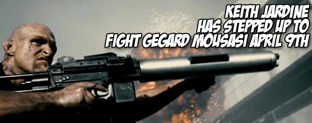 Keith Jardine has stepped up to fight Gegard Mousasi April 9th