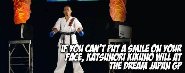 If you can't put a smile on your face, Katsunori Kikuno will at the Dream Japan GP