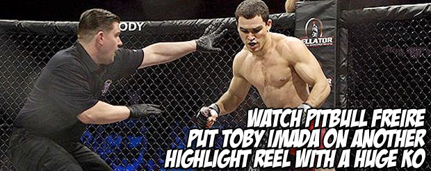 Watch Pitbull Freire put Toby Imada on another highlight reel with a huge KO