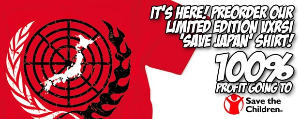 It's here! Preorder our Limited Edition VXRSI 'Save Japan' Shirt!