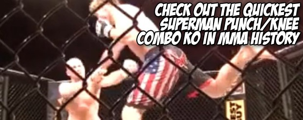 Check out the quickest superman punch/knee combo KO in MMA history