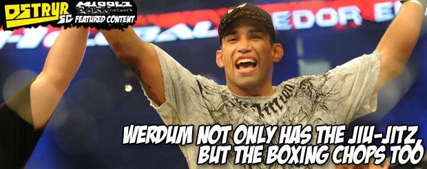 Werdum not only has the Jiu-Jitz, but the boxing chops too