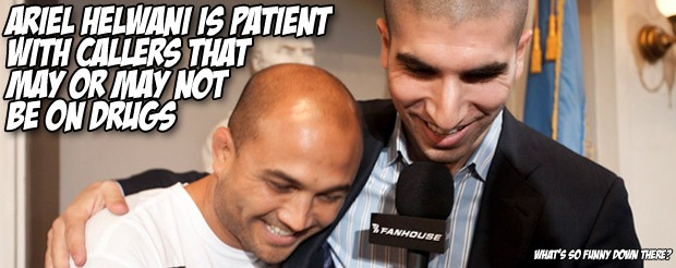Ariel Helwani is patient with callers that may or may not be on drugs