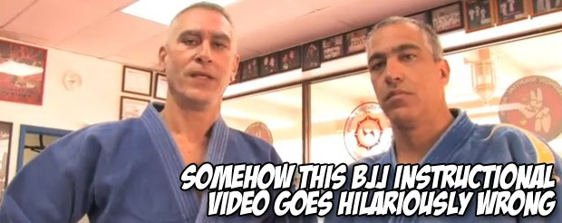 Somehow this BJJ instructional video goes hilariously wrong