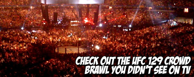 Check out the UFC 129 crowd brawl you didn't see on TV