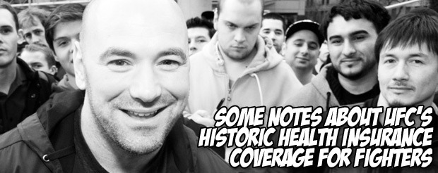Some notes about UFC's historic health insurance coverage for fighters