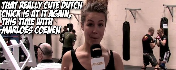 That really cute Dutch chick is at it again, this time with Marloes Coenen