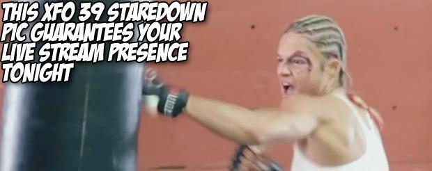 This XFO 39 staredown pic guarantees your live stream presence tonight