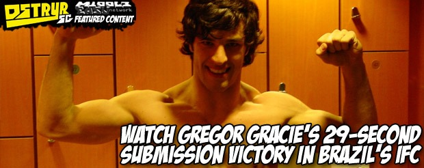 Watch Gregor Gracie's 29-second submission victory in Brazil's IFC
