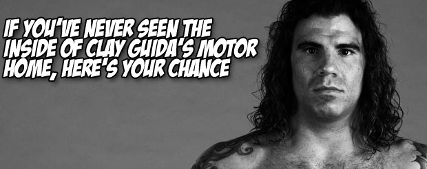 If you've never seen the inside of Clay Guida's motor home, here's your chance