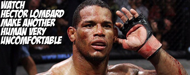 Watch Hector Lombard make another human very uncomfortable