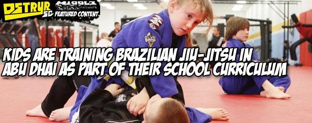 Kids are training Brazilian jiu-jitsu in Abu Dhai as part of their school curriculum