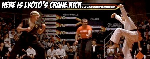 Here is Lyoto's Crane kick…
