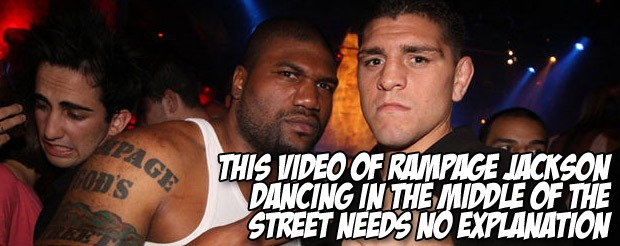 This video of Rampage Jackson dancing in the middle of the street needs no explanation