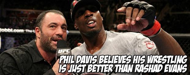 Phil Davis believes his wrestling is just better than Rashad Evans