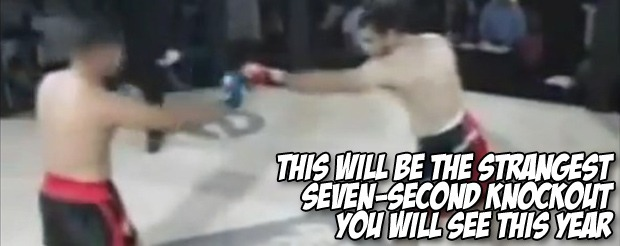 This will be the strangest seven-second knockout you will see this year
