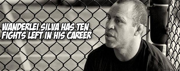Wanderlei Silva has ten fights left in his career