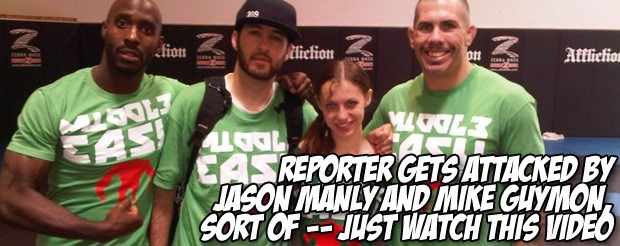 Reporter gets attacked by Jason Manly and Mike Guymon, sort of — just watch this video