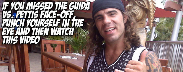 If you missed the Guida vs. Pettis face-off, punch yourself in the eye and then watch this video
