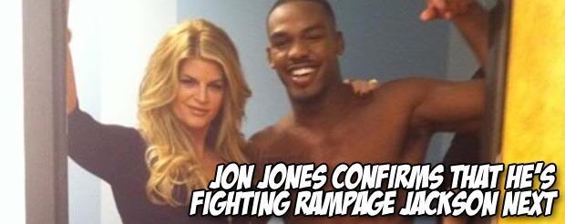 Jon Jones confirms that he's fighting Rampage Jackson next