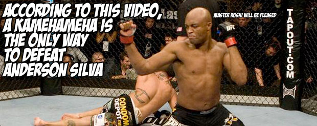 According to this video, a Kamehameha is the only way to defeat Anderson Silva