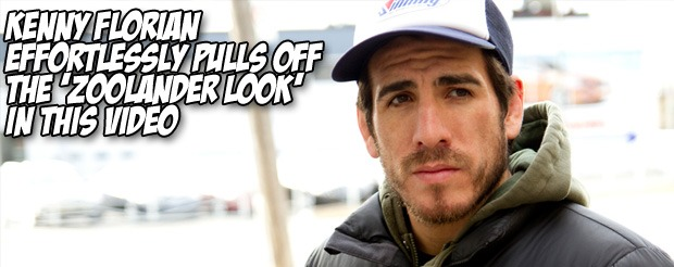 Kenny Florian effortlessly pulls off the 'Zoolander look' in this video