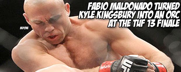 Fabio Maldonado turned Kyle Kingsbury into an Orc at the TUF 13 finale