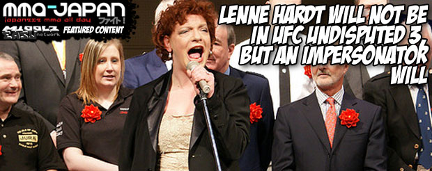 Lenne Hardt will NOT be in UFC Undisputed 3, but an impersonator will