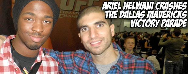 Ariel Helwani crashes the Dallas Mavericks victory parade