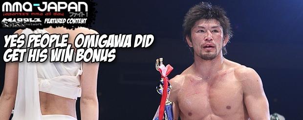 Yes people, Omigawa did get his win bonus