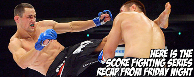 Here is the Score Fighting Series recap from Friday night