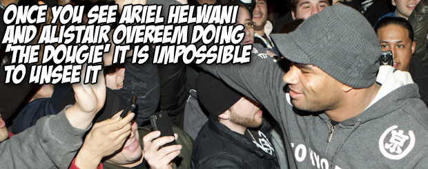 Once you see Ariel Helwani and Alistair Overeem doing 'The Dougie' it is impossible to unsee it
