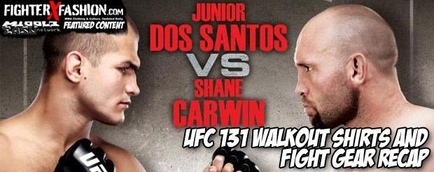 UFC 131 Walkout Shirts and Fight Gear Recap