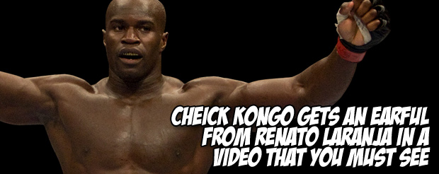 Cheick Kongo looks like an undead slayer in this German interview