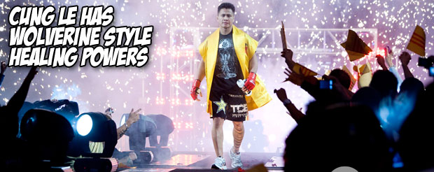 Cung Le has Wolverine style healing powers
