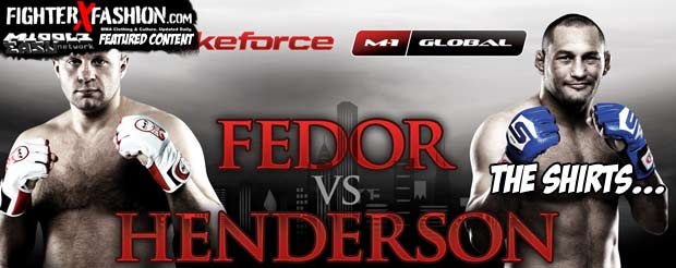 Fedor vs Henderson: the shirts