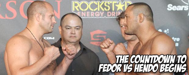 The countdown to Fedor vs Hendo begins