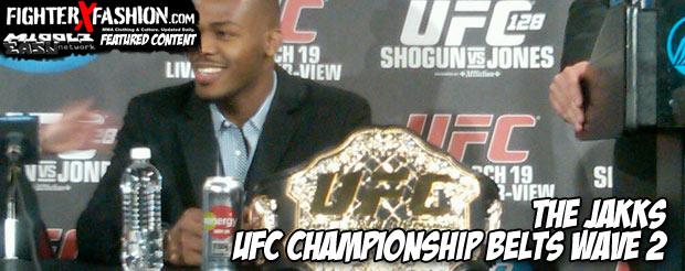 The Jakks UFC championship belts (wave 2)