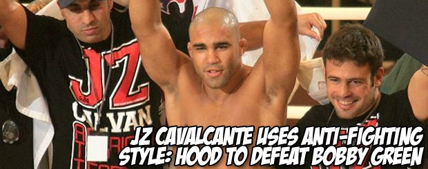 JZ Cavalcante uses anti-fighting style: hood to defeat Bobby Green