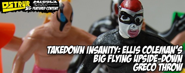 Takedown insanity: Ellis Coleman's big flying upside-down greco throw