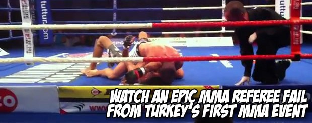 Watch an epic MMA referee fail from Turkey's first MMA event