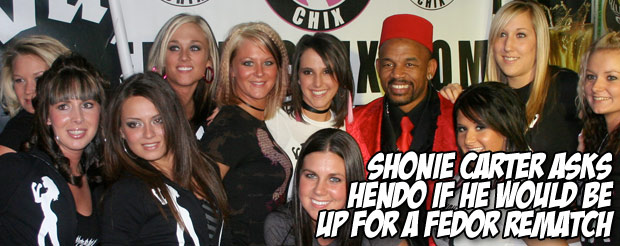 Shonie Carter asks Hendo if he would be up for a Fedor rematch