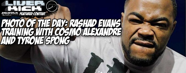 Photo of the Day: Rashad Evans training with Cosmo Alexandre and Tyrone Spong