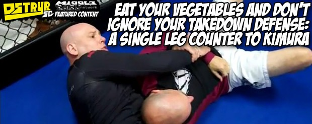 Eat your vegetables and don't ignore your takedown defense: A single leg counter to kimura