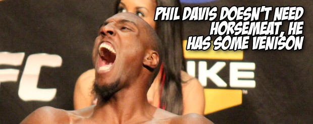 Phil Davis doesn't need horsemeat, he has some venison.