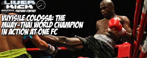 Vuyisile Colossa: The muay-thai world champion in action at One FC